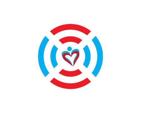 Hear logo design vector template