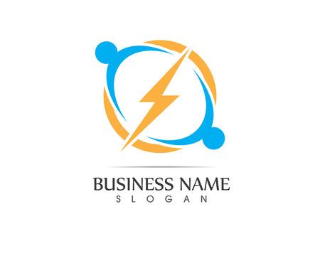 Lightning flash logo vector