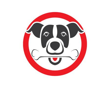 Dog head icon logo design vector