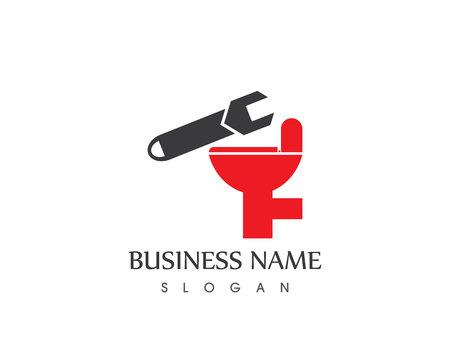 Plumbing service logo vector template