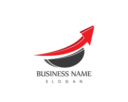 Business arrow logo vector template