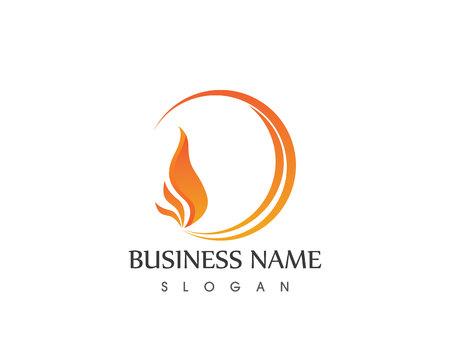 fire flame logo design vector template ロイヤリティフリークリップ