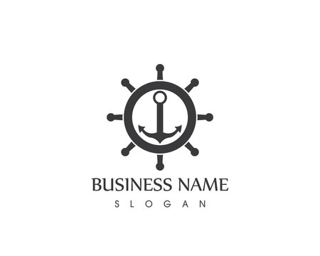 anchor logo and symbol template