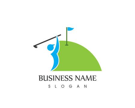 Golf logo vector template Illustration