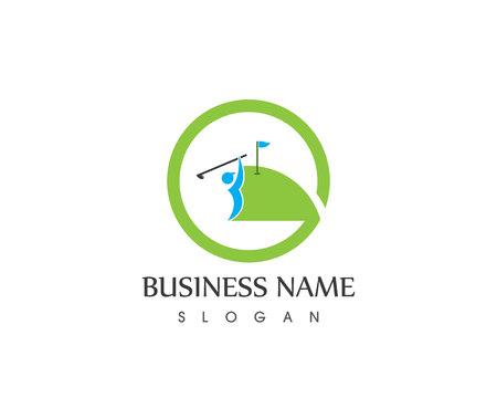 Golf logo vector template 矢量图像