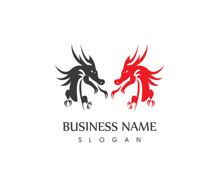 Dragon logo vector illustrtaioacn