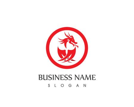Dragon logo vector illustrtaioacn
