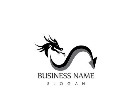 Dragon logo vector illustrtaioacn Stock Vector - 113857246
