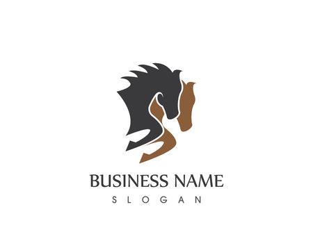 Illustrazione vettoriale di logo di cavalli Logo