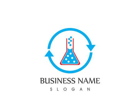 Herbal pharmacy logo vector Ilustração