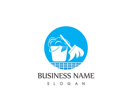 Cleaning service logo vector template Illustration