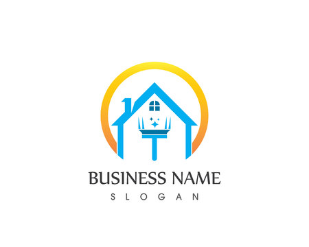 Modèle vectoriel de logo de service de nettoyage Logo