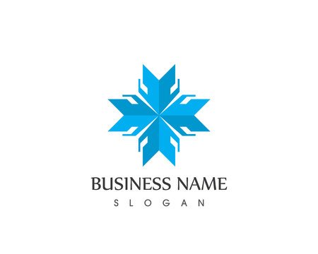 Business arrows logo vector template