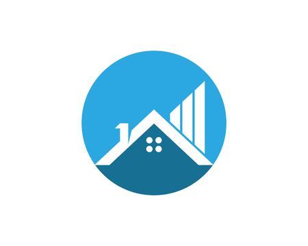 Real estate and building home logo vector
