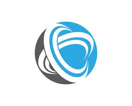 Modèle vectoriel de cercle anneaux icône logo