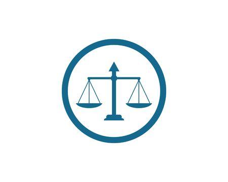 Plantilla de diseño de logotipo de Law Firm Justice