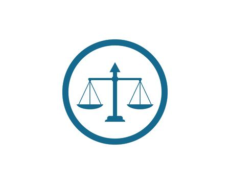 Law Firm Justice logo Design template Illustration
