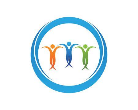 People Dance Logo Design Template Illustration