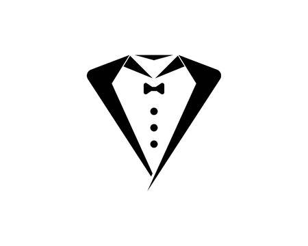 Tuxedo man logo design template