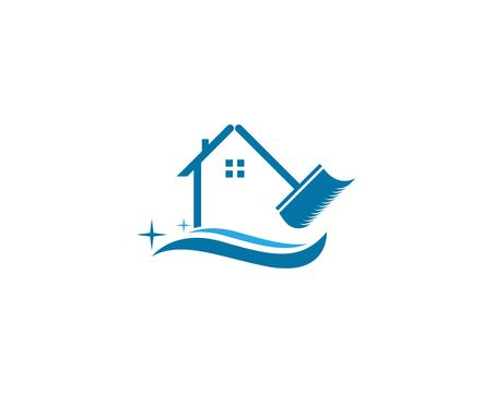 Cleaning service house logo design
