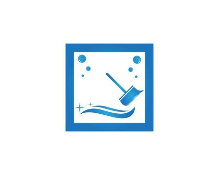 Cleaning service logo design Illustration