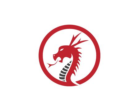 Red dragon head design template Ilustrace