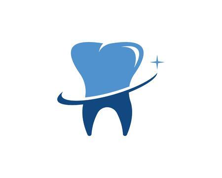 Ontwerpsjabloon voor tandheelkundige zorg Vector Illustratie