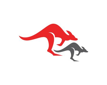 Kangaroo icon logo design vector illustration 矢量图像