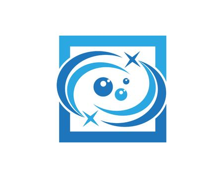 Stars circle icon vector template  イラスト・ベクター素材