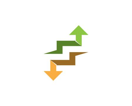 Arrows vector illustration icon Template design