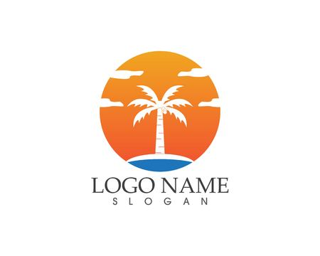 Coconute tree logo vector template Stock fotó - 114696230