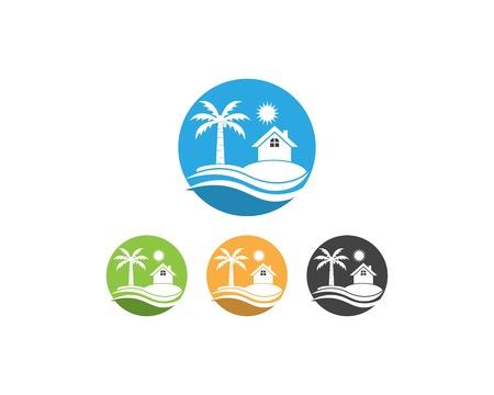 Beach hollidays icon logo vector trmplate Stock fotó - 114696235