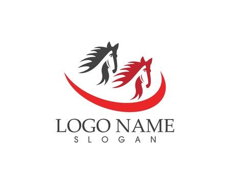 Vecteur de logo icône cheval Logo