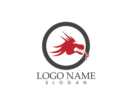 Dragon logo vector illustration  イラスト・ベクター素材