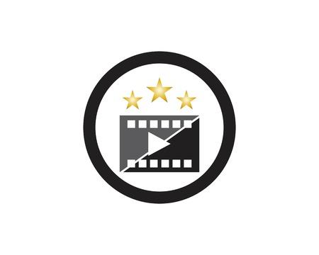 Multimedia film industry logo vector