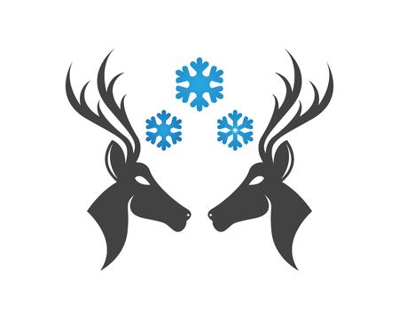 Deer head icon logo vector Ilustrace