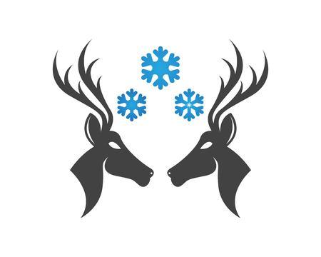 Deer head icon logo vector Illustration