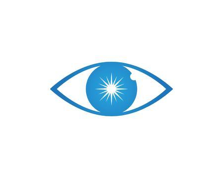 Eye care health logo vector Ilustração