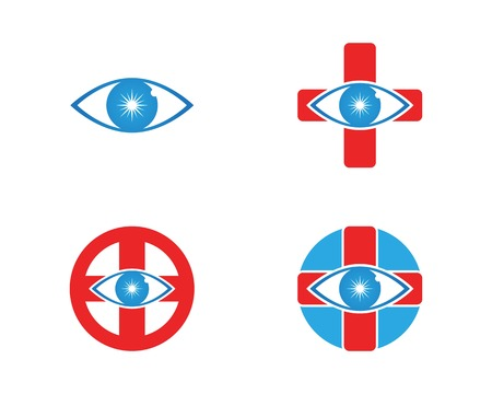Eye care health logo vector Illustration