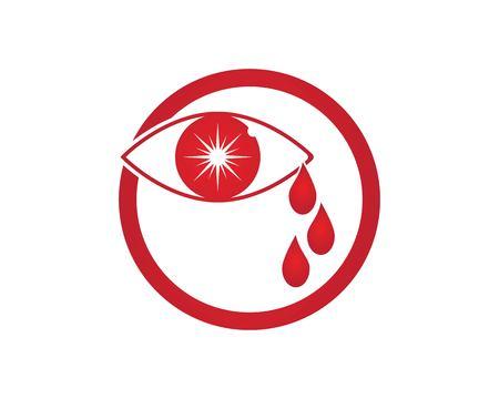 Eye cry logo vector