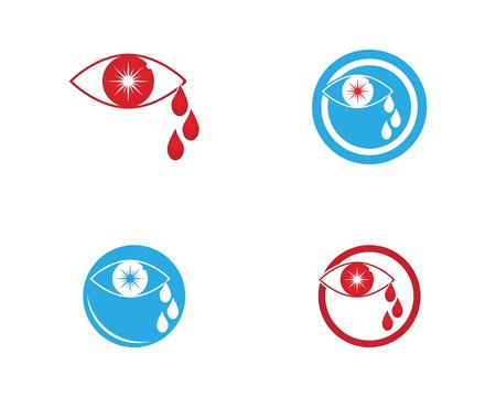 Eye cry logo vector