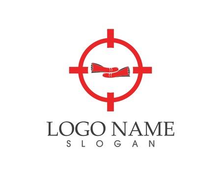 Shoes icon logo vector