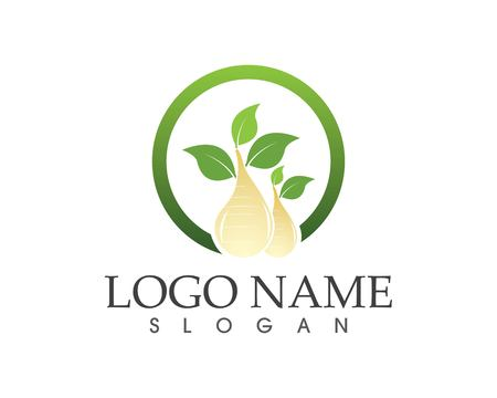 Nature oil logo vector