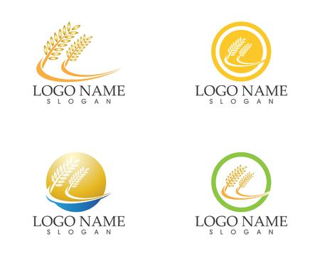 Wheat icon logo vector Иллюстрация