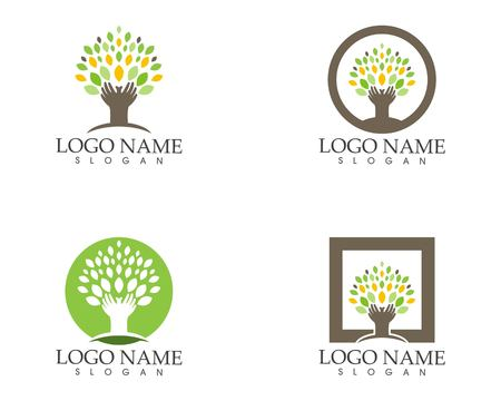 Tree icon logo vector Illustration