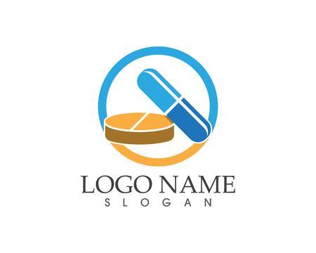 Drug and pill icon sign logo Logo