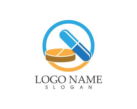 Drug and pill icon sign logo