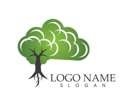 Tree brain icon concept of a stylized Illustration