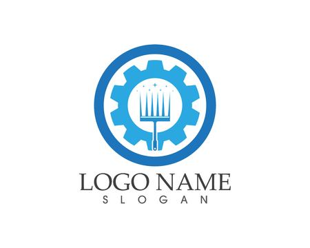 Cleaning service water logo design concept Illustration