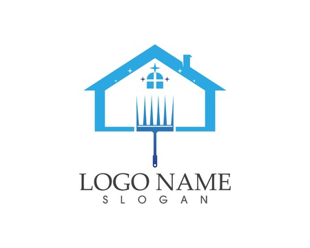 Cleaning home logo design concept